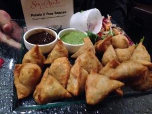 Spicy samosas. Photo by Karen Salkin.