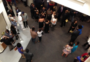 Part of the attractive opening night audience, viewed from the upper level.  Photo by Karen Salkin.