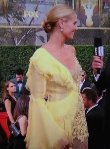 Heidi Klum.  I guess the woman on the bottom left was confused over her Big Bird look, too! Photo by Karen Salkin.
