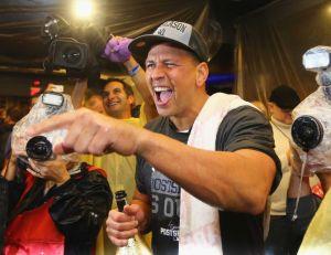 Alex Rodriguez, being perhaps the most grateful Yankee in that celebratory locker room.
