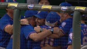 The New York Mets becoming the National League Division Champs, and then celebrating that feat in the picture at the top.
