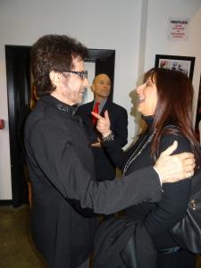 George Chakiris and Karen Salkin.  Photo by Lauren Bennett.