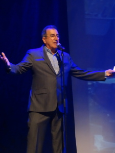 Presenter Kenny Ortega, who gave us a few steps  before he presented.  Wish it had been more!  That man has got it!!! Photo by Lauren Bennett.