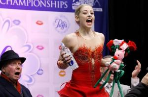 Gracie Gold, learning she had won.