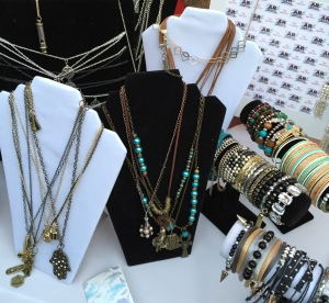 Some of the beautiful jewelry that Amy Marie Radzik of AR Pro Designs was gifting the guests.  Photo by Karen Salkin.