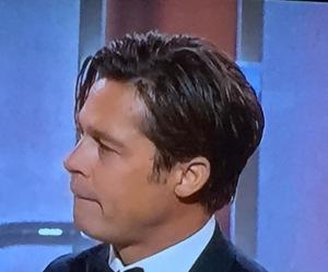 Brad Pitt's dirty hair. Photo by Karen Salkin.