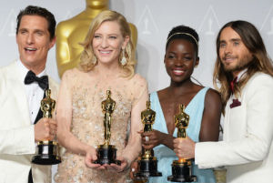 The diverse group of Oscar winners in 2014.