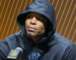 Dreadful sport, (and losing quarterback,) Cam Newton, in his ultra-rude press conference.