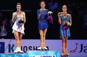 The Ladies podium.