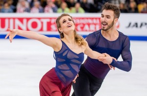 Champions Gabrielle Papadakis and Guillame Cizeron.  (The two American team medalists are flanking them in the big picture at the top.)