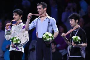 The Men's podium.