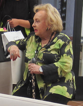 The last picture I took of Doris Roberts, in September 2015.  Photo by Karen Salkin.