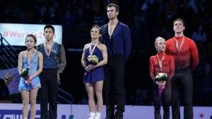 The Pairs podium.