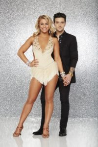 Paige VanZant and her pro dance partner, Mark Ballas.