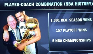 This graphic, about Spurs' coach Gregg Popovich and Tim Duncan, sent me into crying over overdrive.  Photo by Karen Salkin.