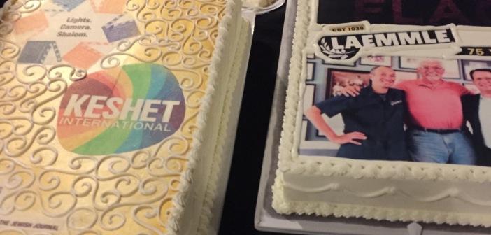 Two of the celebratory cakes.  Photo by Karen Salkin.