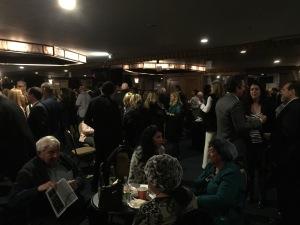 The pre-screening reception.  Photo by Karen Salkin.
