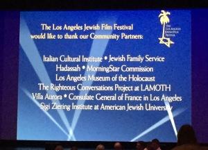 The beautiful screen at the Saban.  Photo by Karen Salkin.