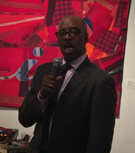 Courtney B. Vance addressing the crowd. Photo by Karen Salkin.