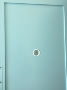 A treatment room door. I love this color! Photo by Karen Salkin.