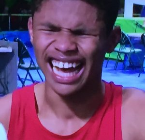 I felt so bad for Shakur Stevenson.  But he did come away with the silver medal! Photo by Karen Salkin.