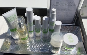 Some of the products from the Sonya Dakar Beauty Boot Camp line.  Photo by Karen Salkin.
