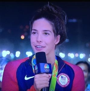 Why would Maia Dirado wear her hair like that on TV??? Photo by Karen Salkin.