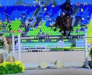 Show Jumping, which I love, but just look at that sad empty venue. Photo by Karen Salkin.
