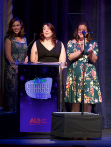 The producers of the show, welcoming the audience. Photo by Earl Gibson III for the ALS Association Golden West Chapter.