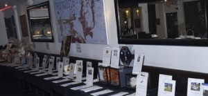 Some of the silent auction items. Photo by Earl Gibson III for the ALS Association Golden West Chapter.