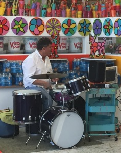 Kind volunteer drummer, David B. Photo by Karen Salkin.