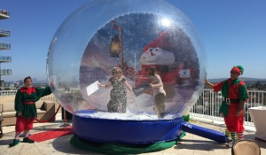 The snow-globe bounce-house. Photo by Karen Salkin.