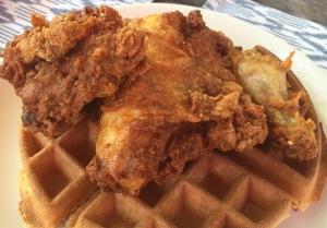 Chicken and waffles.  Yum!  Photo by Karen Salkin.