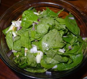 Spinach salad. Photo by Lauren Clarke-Bennett.