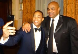 Even fellow honoree, Don Lemon, wanted a selfie with Chuck! Photo by Lauren Clarke-Bennett.