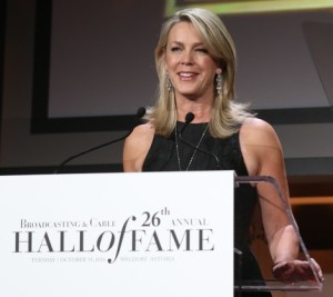 Deborah Norville, speaking at the dinner.  Photo courtesy of the BCHOF, as is the big one at the top of the page.