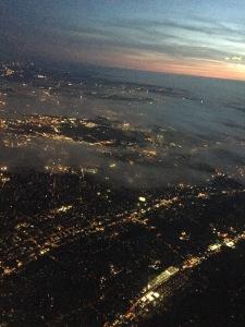 On the plane, heading back to LA.  Photo by Karen Salkin.