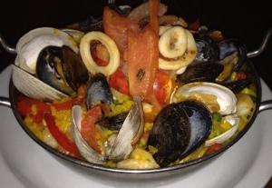 Seafood Paella. Photo by Sharon Lieberman.