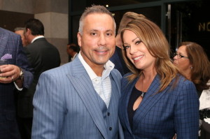 Art and Jaime Lewin.  I love their coordinated blue outfits!  Photo courtesy of Bergman Public Relations.