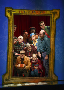 The cast of Amelie, minus the two Amelies! Photo by Joan Marcus.