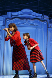 Phillipa Soo and Savvy Crawford.  (Yes, they do appear together on-stage a couple of times in the show.) Photo by Joan Marcus.