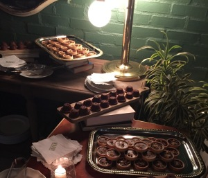 The desserts.  Loved those sticky toffee puddings!  Photo by Karen Salkin.
