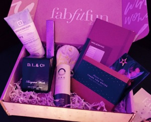 The special guest at the party--the FabFitFun Winter Box! Photo by Karen Salkin.