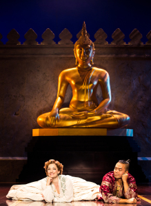 An amusing scene between Laura Michelle Kelly and Jose Llano. Photo by Matthew Murphy.