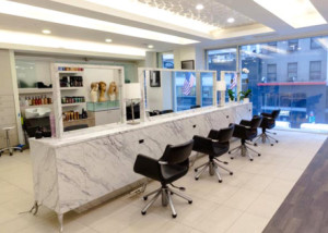 The interior of the Angelo David Salon.