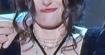 Just one of the many weird faces that Winona Ryder was making on stage! Photo by Karen Salkin.