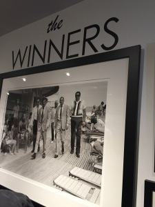 "Part of the ""Winners"" exhibit.  Can you pick-out Frank Sinatra in that photo?  Photo by Karen Salkin. (THIS one, not the one in the frame.)"
