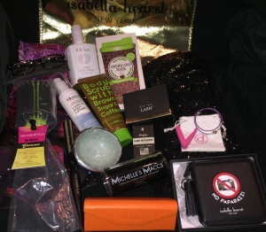 Some of the higlights of the goodie bag, and kiosk. Photo by Karen Salkin,