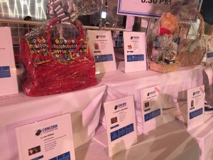 A very small portion of the silent auction items.  Photo by Karen Salkin.
