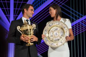 The Champions of Wimbledon 2017, Roger Federer and Garbine Muguruza.
